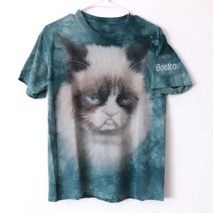 The Mountain Grumpy Cat Boston Tie Dye Graphic Tee